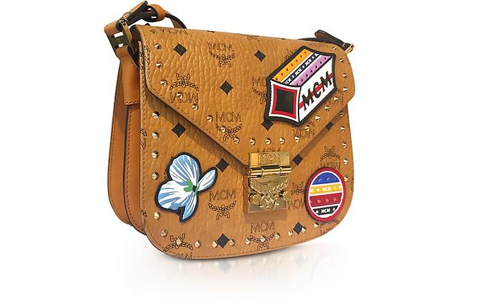 Patricia Victory Patch Visetos Cognac Small Shoulder Bag