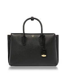 Milla Black Leather Large Tote Bag - MCM