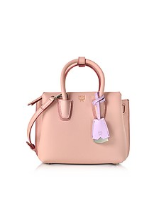 Milla Pink Blush Leather Mini Tote Bag - MCM