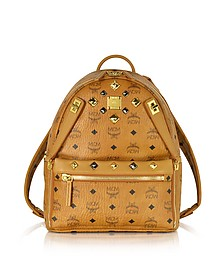 Cognac Small Dual Stark Backpack - MCM