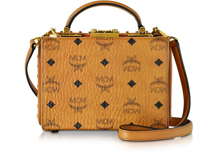 Berlin Cognac Small Crossbody Bag - MCM
