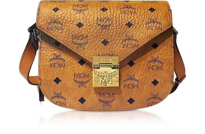 Patricia Visetos Cognac Small Shoulder Bag  - MCM