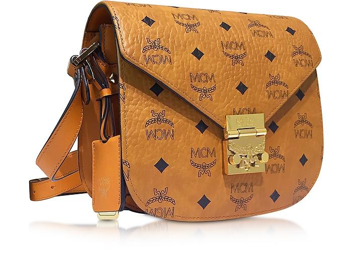 MCM Patricia Visetos Cognac Small Shoulder Bag at FORZIERI Australia bae61e6862867