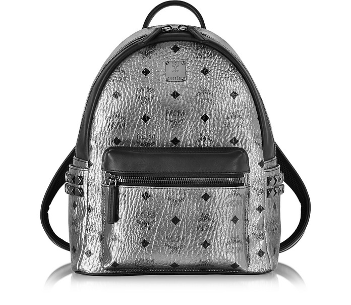 Stark Small Silver Backpack - MCM