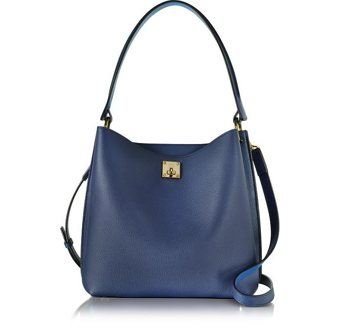 Milla Blue Medium Hobo Tasche aus Leder