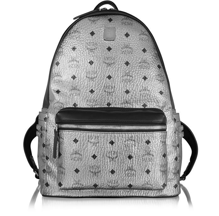 Silver Stark Medium Backpack - MCM