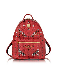 Stark Small Ruby Red Backpack - MCM