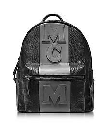 Stark Stripe Black Medium Backpack - MCM