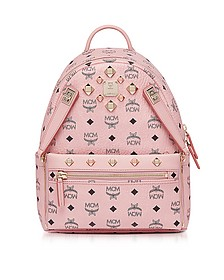 Dual Stark Small Soft Pink Backpack - MCM