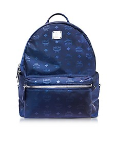 Dieter Monogrammed Nylon Medium Backpack - MCM