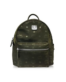 Dieter Monogrammed Nylon Small Backpack - MCM