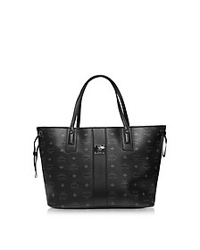 Medium Black Shopper Project Visetos Reversible Tote - MCM