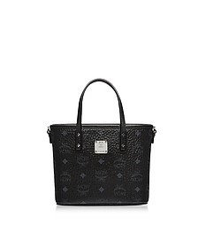 Mini Black Eco Leather Top Zip Shopping Bag - MCM