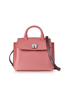 Small Coral Blush Pebble Leather Milla Crossbody Bag - MCM