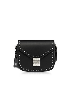 Black Patricia Studded Outline Park Avenue Small Shoulder Bag - MCM