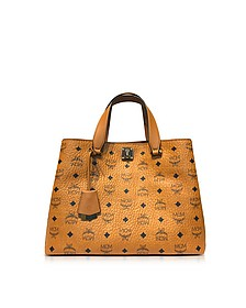 Large Cognac Signature Visetos Original Tote - MCM
