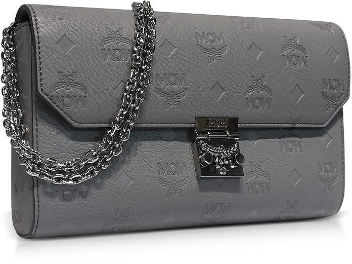 Medium Dove Millie Monogrammed Leather Flap Crossbody Bag