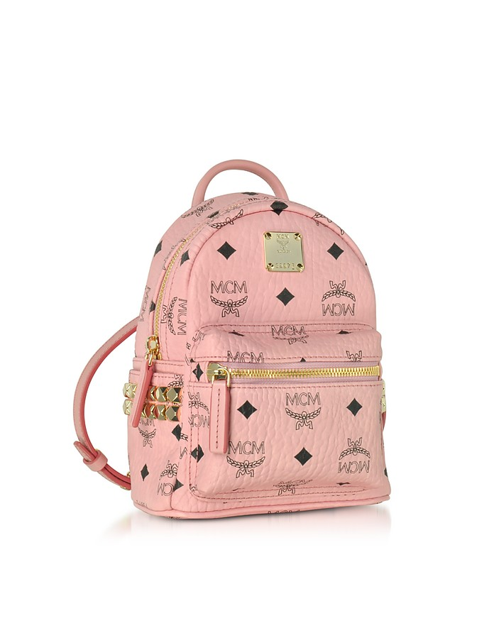 fa83af528470b MCM Pink X-Mini Stark Backpack at FORZIERI Australia