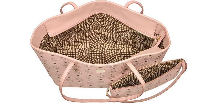 MCM Anya Soft Pink Top Zip Medium Shopping Bag FORZIERI