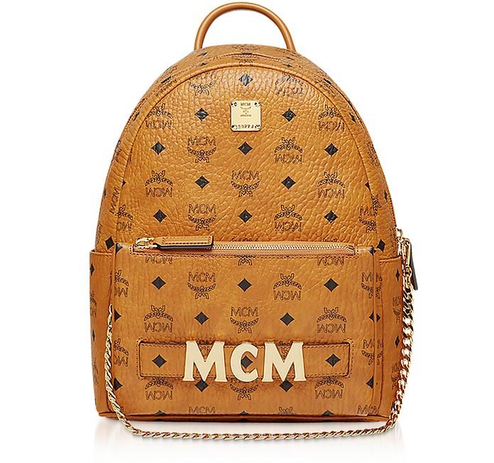 Cognac Trilogie Stark Small Backpack - MCM