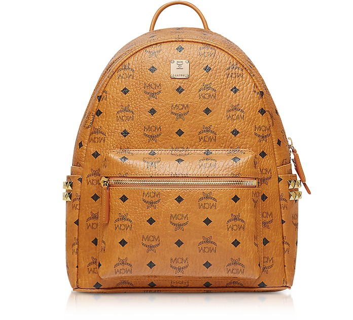 Cognac Small-Medium Stark Backpack - MCM / エムシーエム