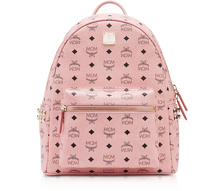 42487056a64e7 MCM Soft Pink Small-Medium Stark Backpack - FORZIERI