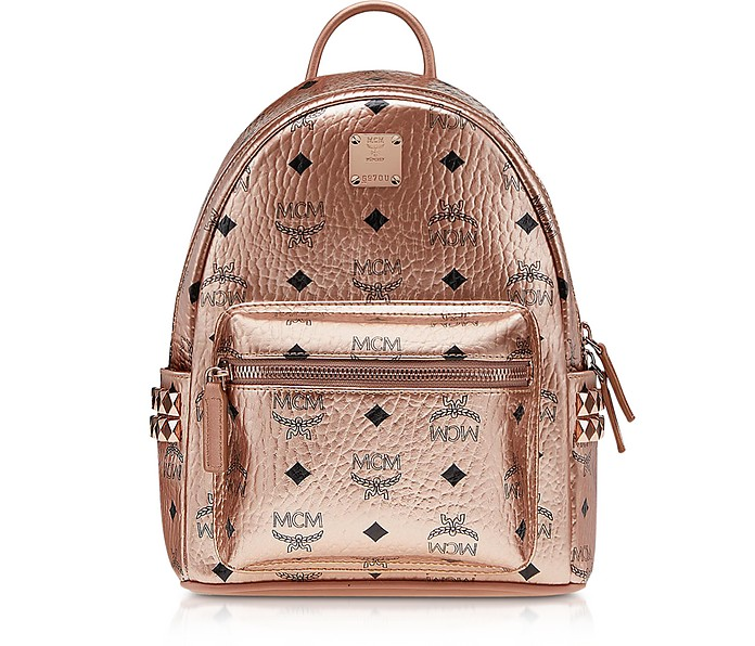 Zaino Mini Stark in Canvas Champagne Gold  - MCM