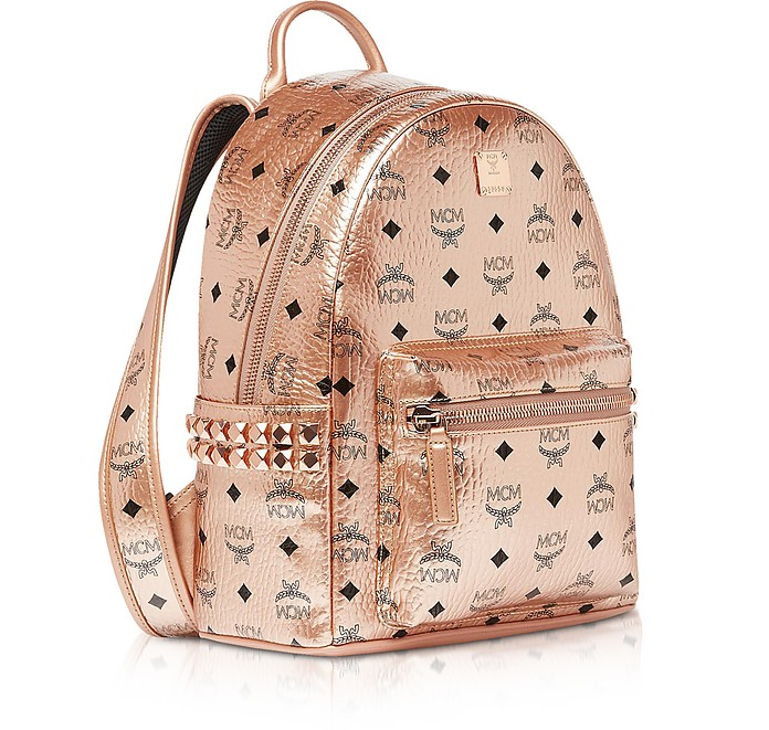 Small Champagne Gold Visetos Stark Side Studs Backpack