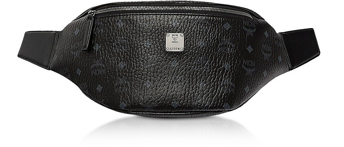 Black Visetos Medium Stark Belt Bag - MCM