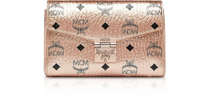 0a99887cd MCM Champagne Gold Millie Visetos Small Crossbody Bag at FORZIERI ...