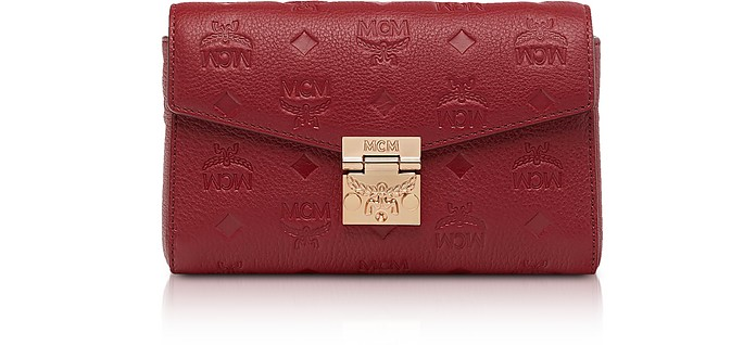 Millie Monogrammed Leather Small Crossbody Bag - MCM