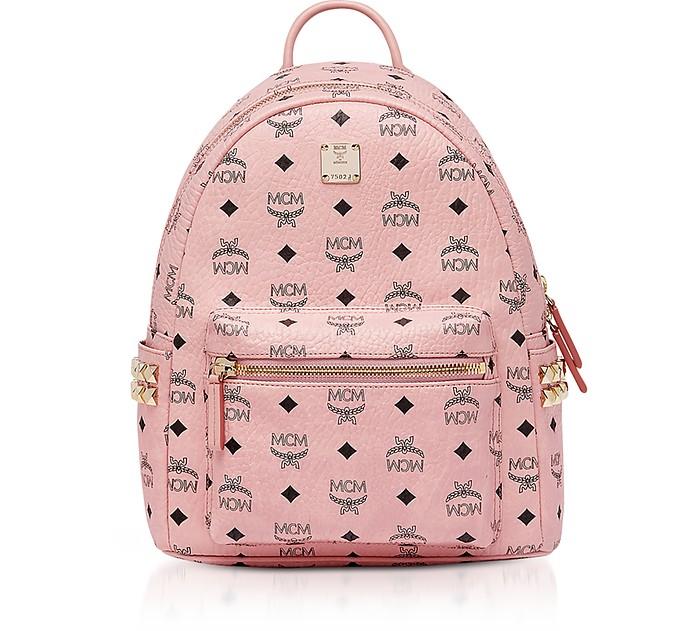 Soft Pink Visetos Stark Side Studs Backpack  - MCM