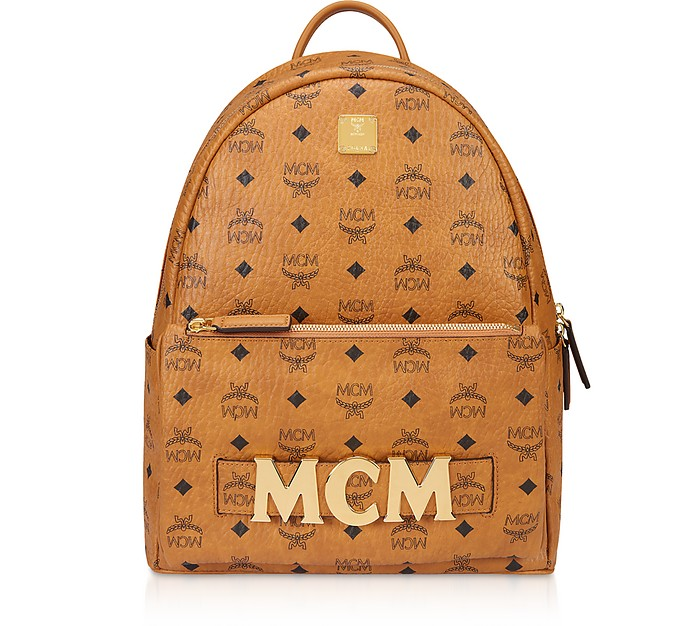 Mcm Backpacks Cognac Trilogie Stark Small/Medium Backpack