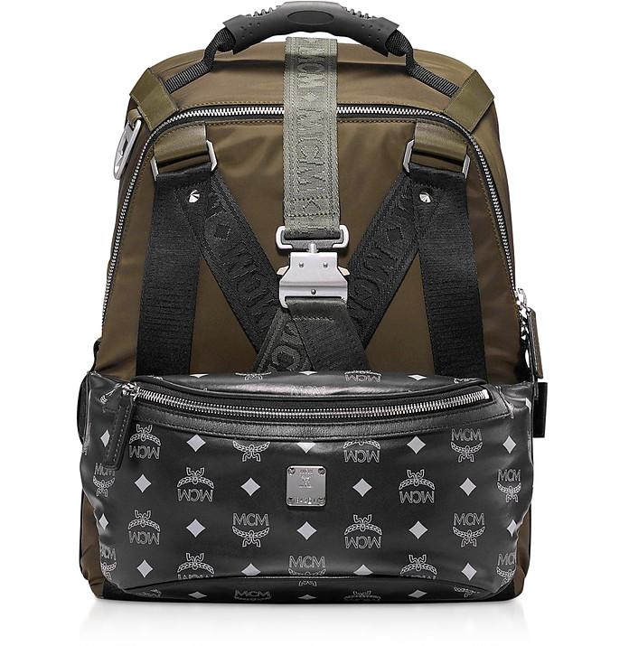 Loden Green Jemison Nylon Medium Backpack