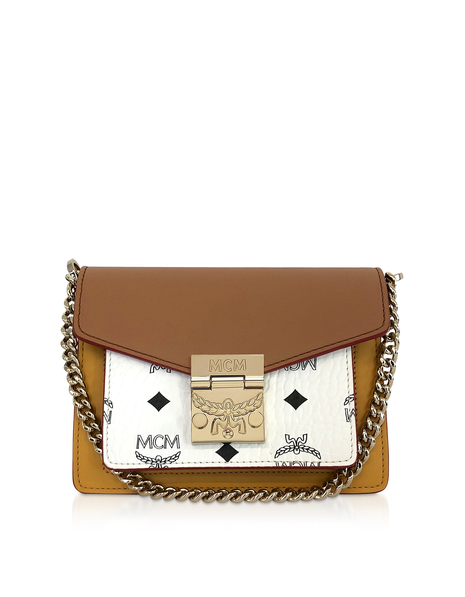 96342fae4 Mcm Patricia Visetos Leather Block Mini Crossbody Bag   ModeSens