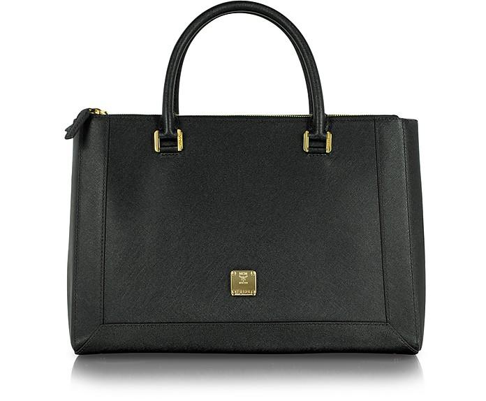 Nuovo L - Large Saffiano Leather Zip Tote - MCM