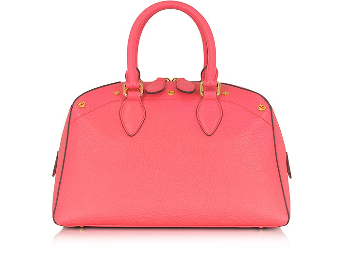 First Lady - Small Leather Boston Bag - MCM