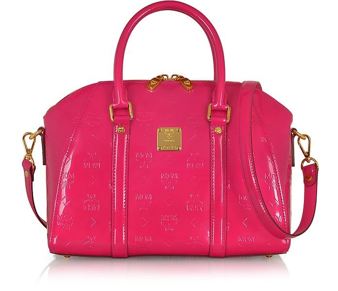 Ivana Patent Leather Bowler Bag - MCM