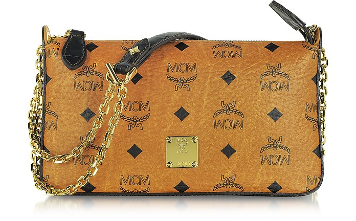 ad943f958a MCM Vintage Visetos Mini Zip Shoulder Bag at FORZIERI