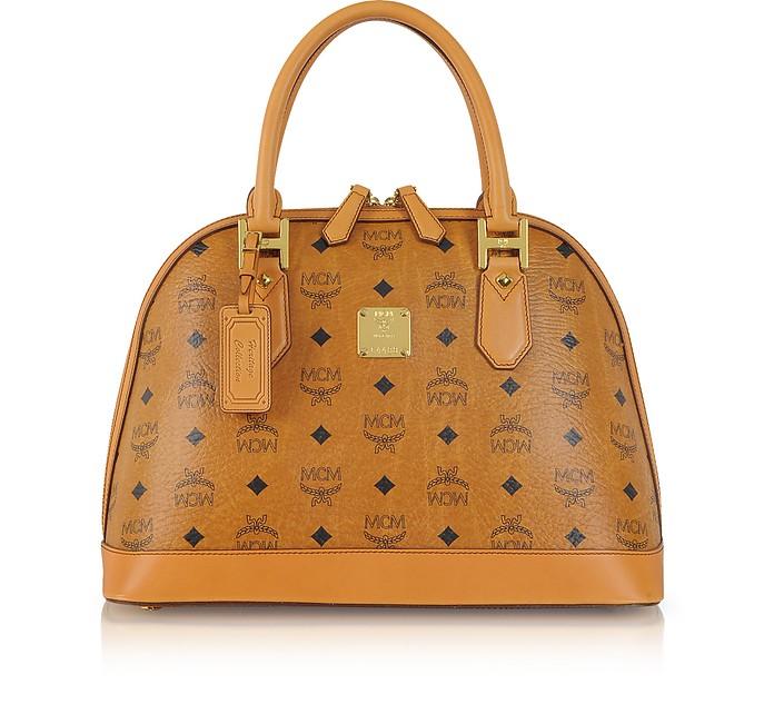 361a816a828 MCM Heritage Cognac Bowler Bag at FORZIERI