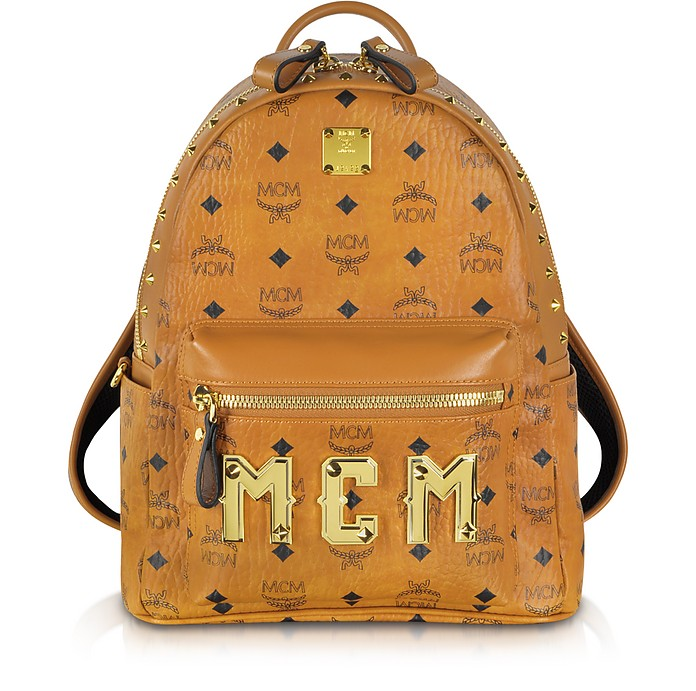 Stark M Collection Cognac Signature Small Backpack - MCM