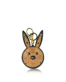 Charm Rabbit Espejo Cognac con Conejo - MCM