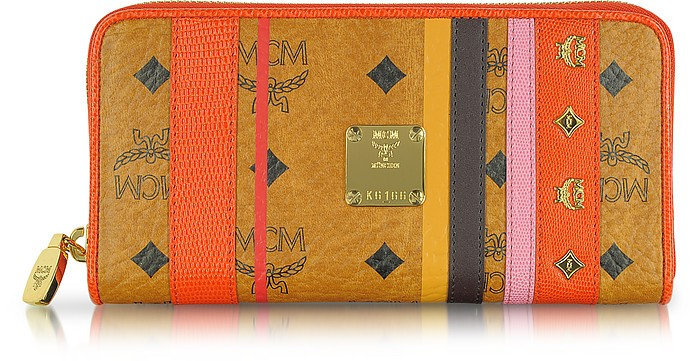 Color Visetos Large Zip Around Wallet - MCM