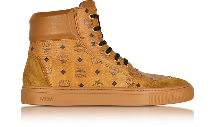 bca17406c6c MCM Cognac Classic Street High-Top Sneaker 43 (10 US | 9 UK | 43 EU ...
