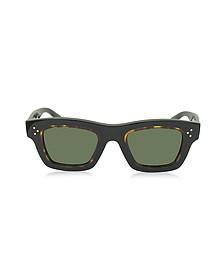 GABY CL 41396/S T7D70 Havana Acetate Square Frame Unisex Sunglasses - Céline