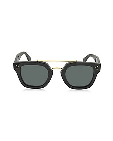 BRIDGE CL 41077/S 807BN Black Acetate Geometric Unisex Sunglasses - Céline