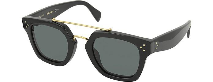 68f24afaa37 BRIDGE CL 41077 S 807BN Black Acetate Geometric Unisex Sunglasses - Céline.   465.00 Actual transaction amount