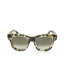 HELEN CL 41397/S T7MZ3 Havana Acetate Cat Eye Women's Sunglasses - Céline