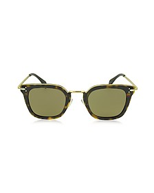 VIC CL 41402/S Acetate and Gold Metal Cat Eye Women's Sunglasses - Céline