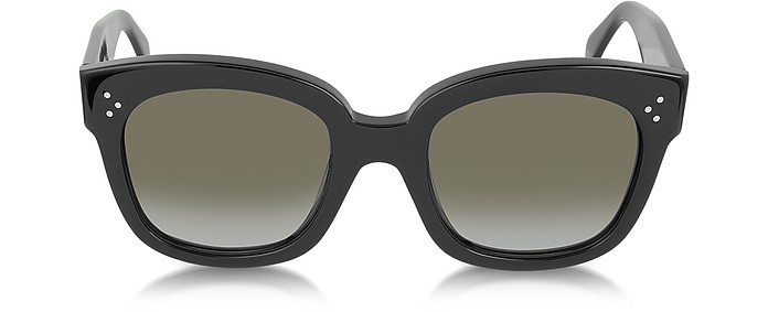 CL41805/S New Audrey Black Acetate Sunglasses - Céline